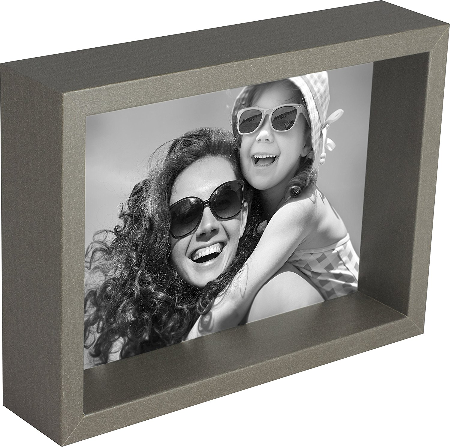 8 x 10-Inch Box Picture Photo Frame, Grey