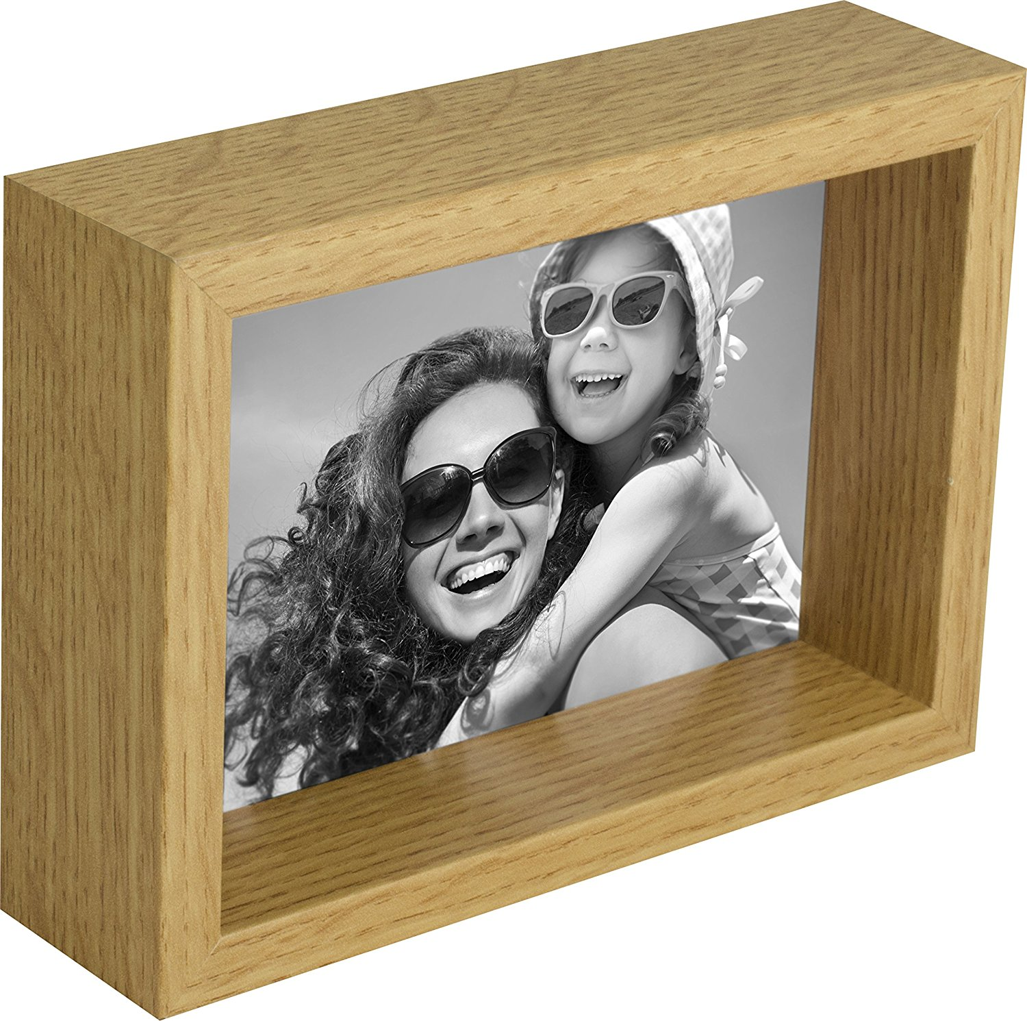 5 x 7-Inch Box Picture Photo Frame, Oak