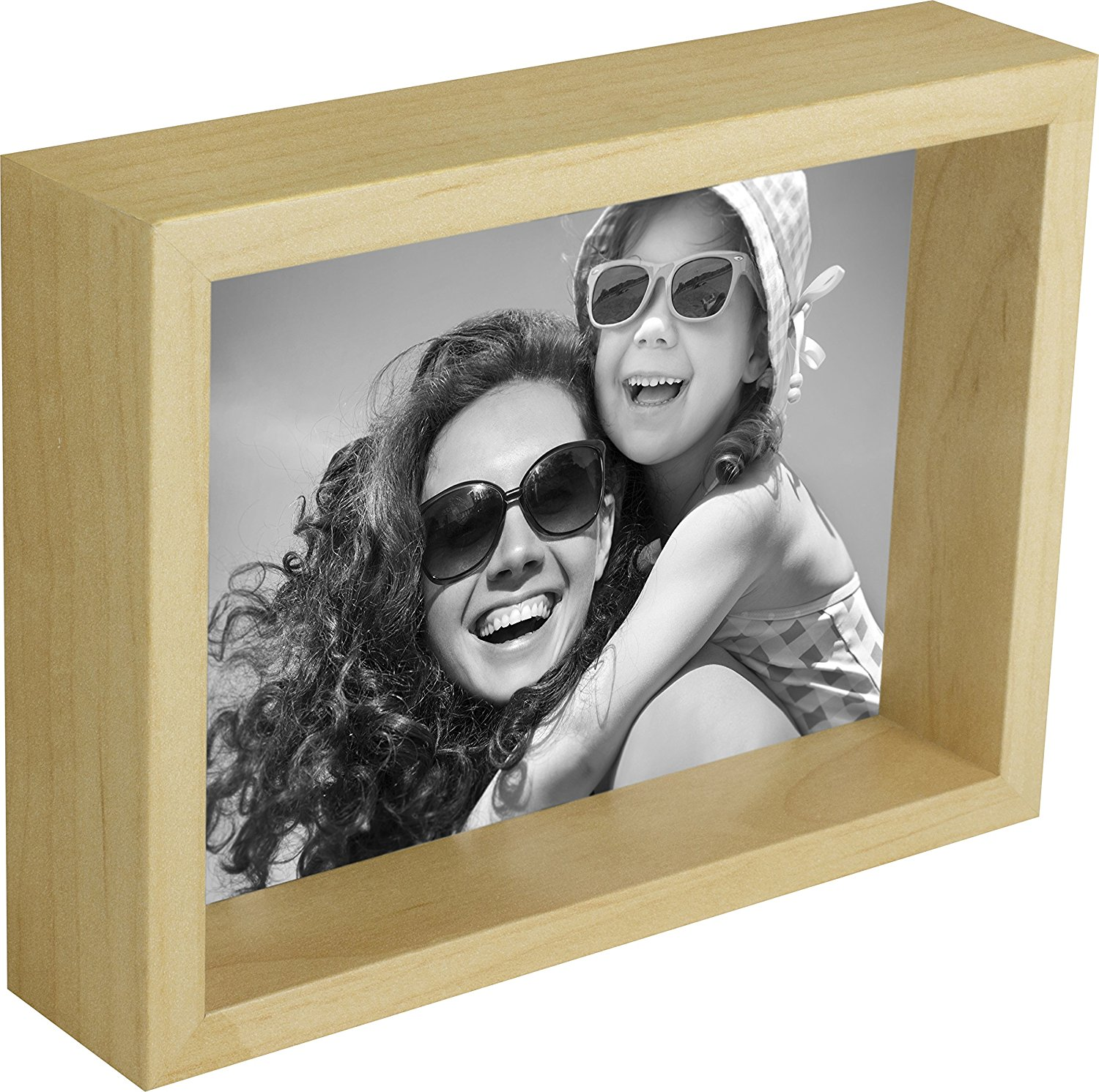 4 x 6-Inch Box Picture Photo Frame, Birch