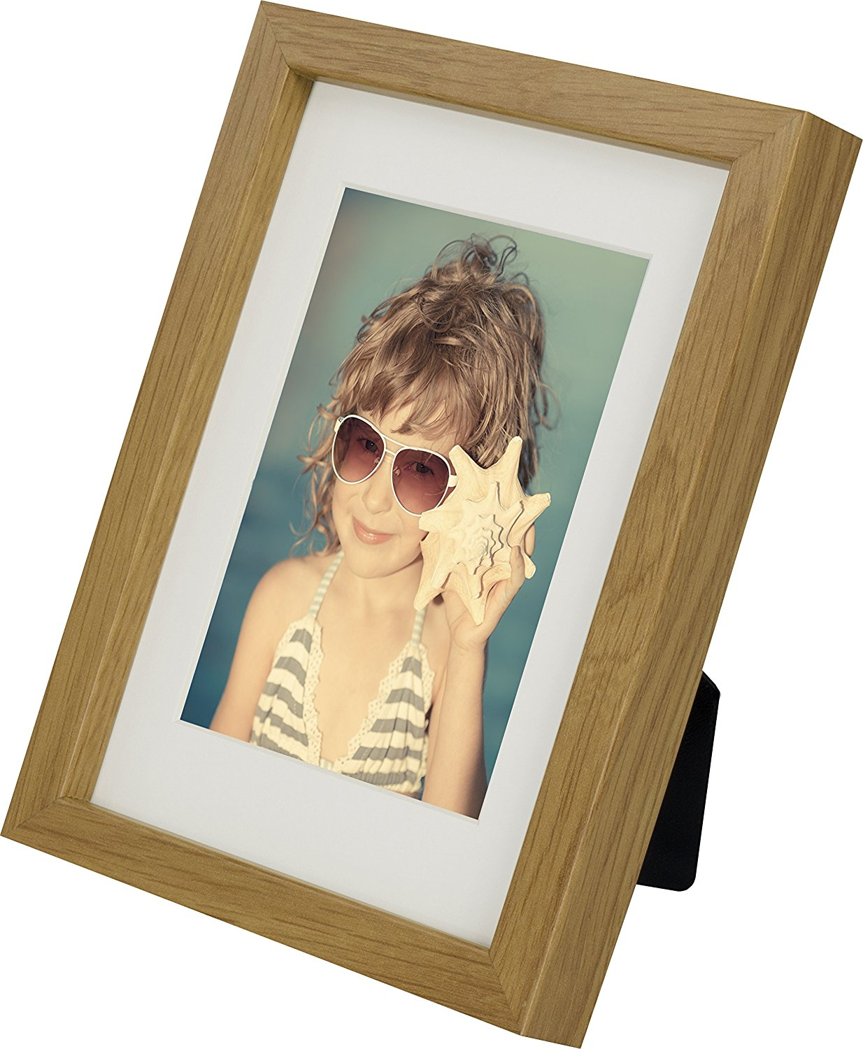 5 x 7-Inch Picture Photo Frame with mount for 4 x 6-Inch photo, OAK ...