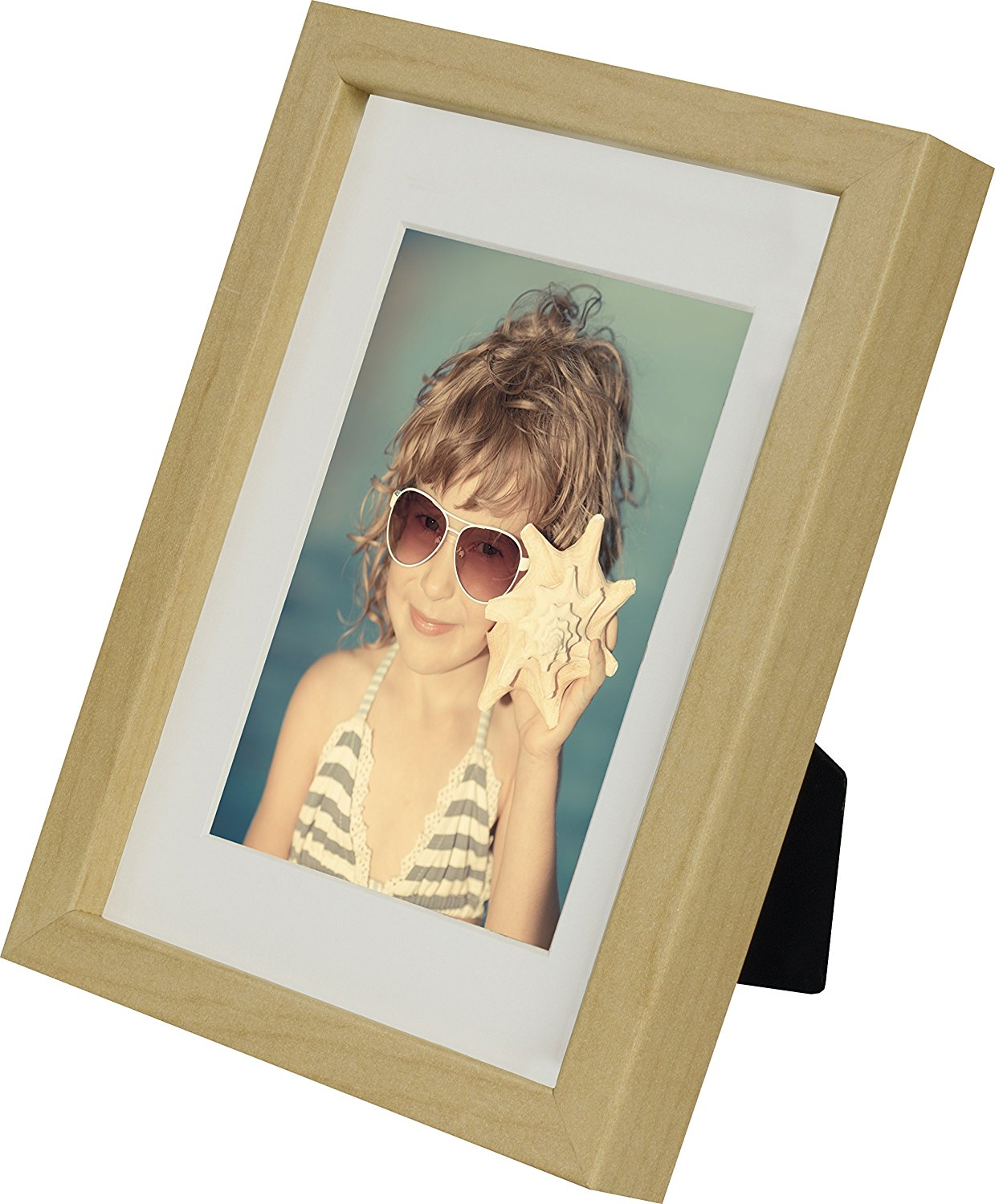 5 x 7-Inch Picture Photo Frame with mount for 4 x 6-Inch photo, BIRCH