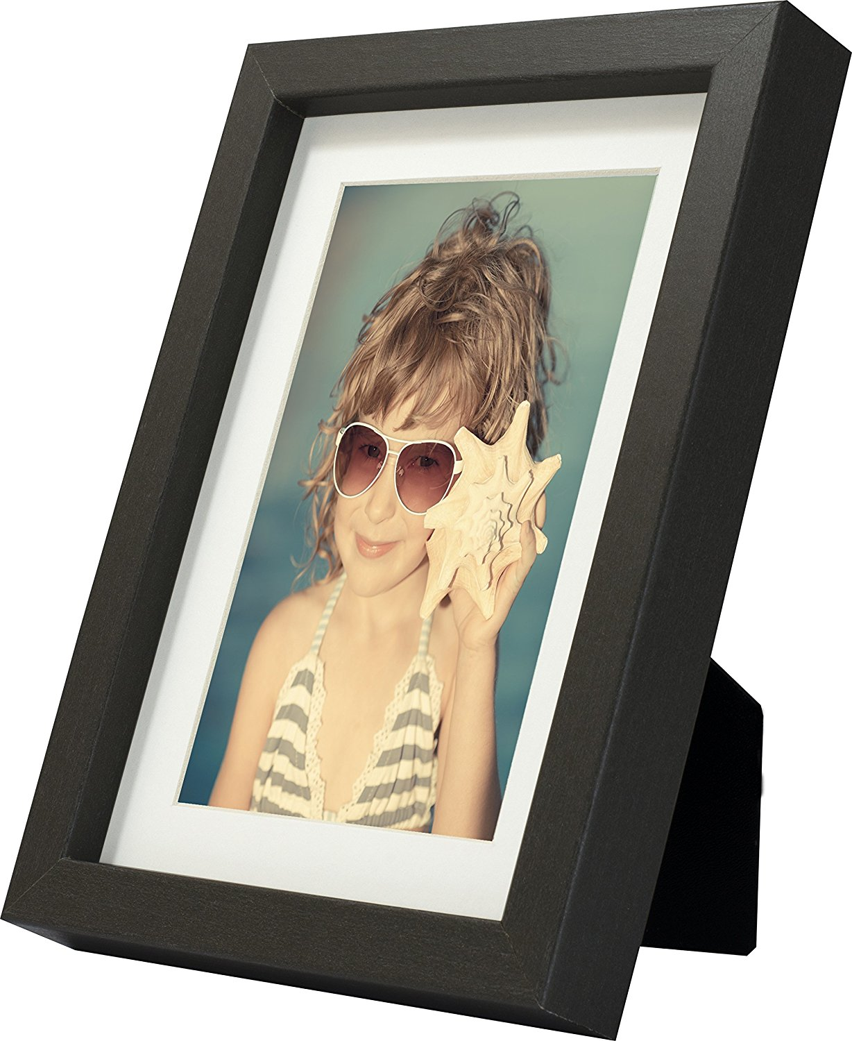 5 x 7-Inch Picture Photo Frame with mount for 4 x 6-Inch photo, GREY