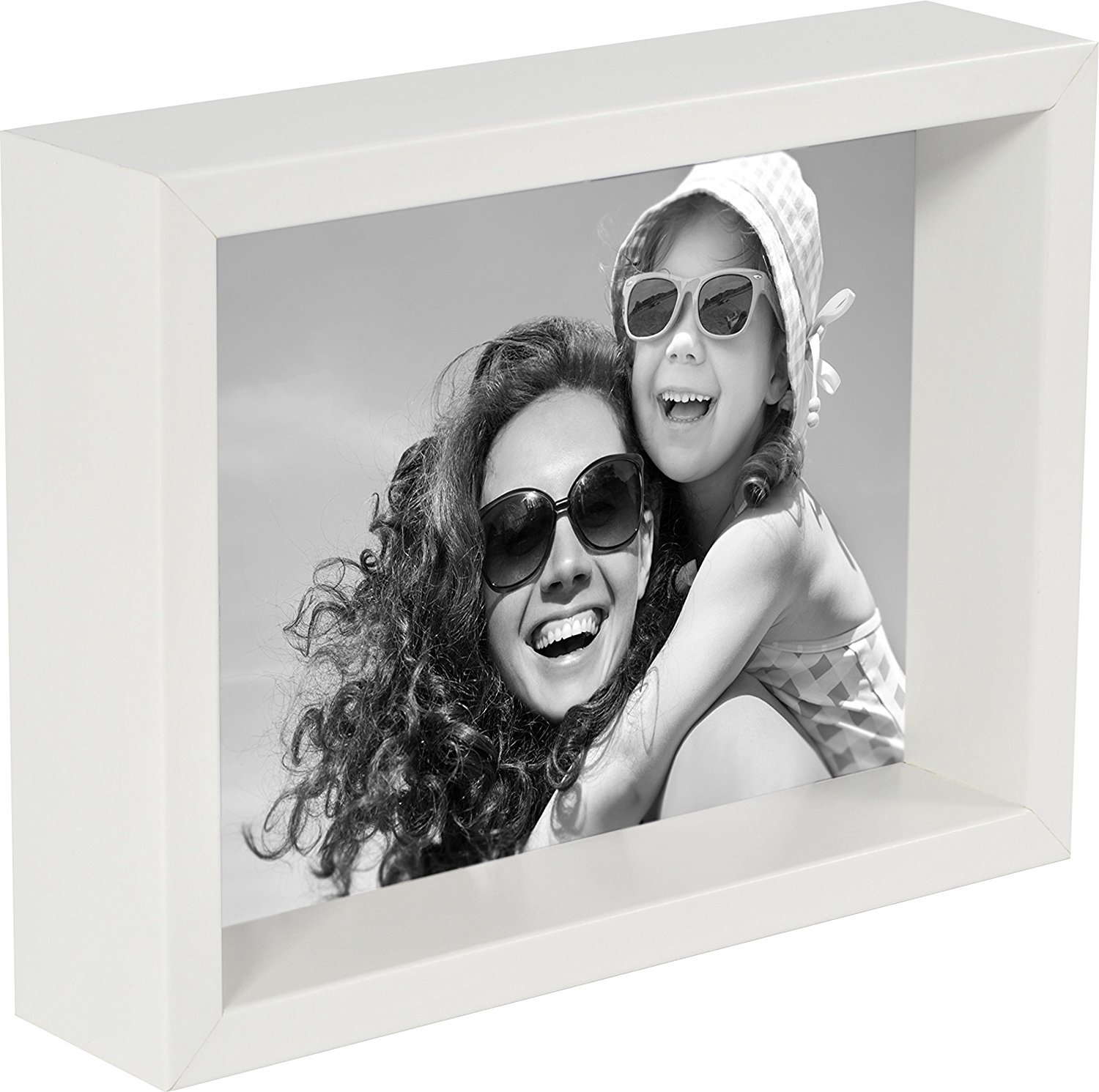 4 x 6-Inch Box Picture Photo Frame, White