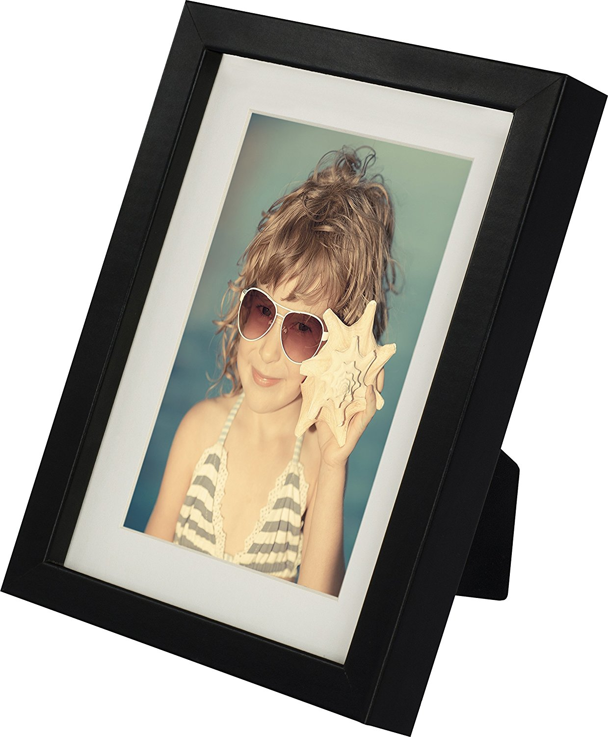 5 x 7-Inch Picture Photo Frame with mount for 4 x 6-Inch photo, 2 Pack, BLACK