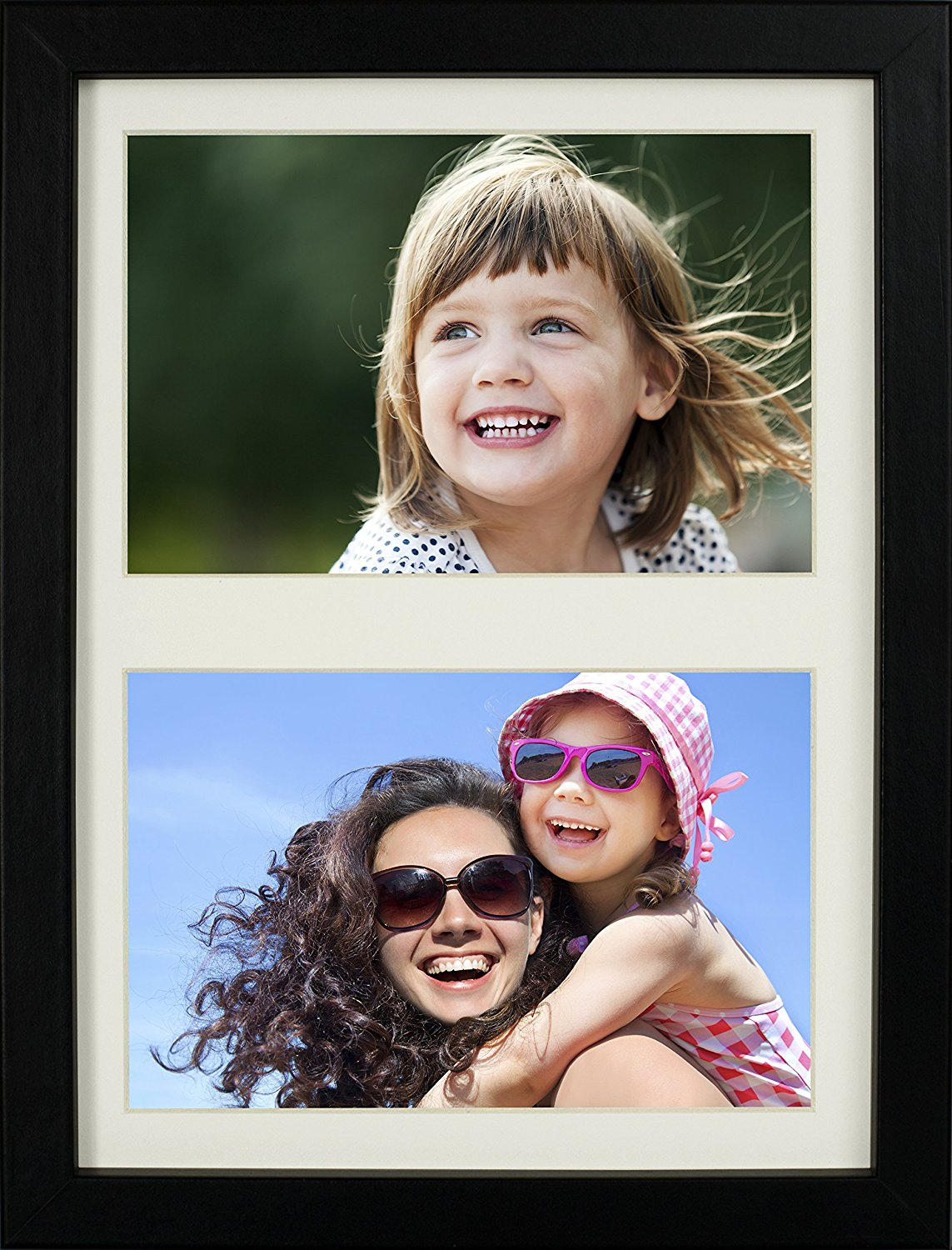 18 x 23 cm (7 x 9-Inch) - 2 Aperture Picture Photo Frame for 6 x 4-Inch photo, BLACK