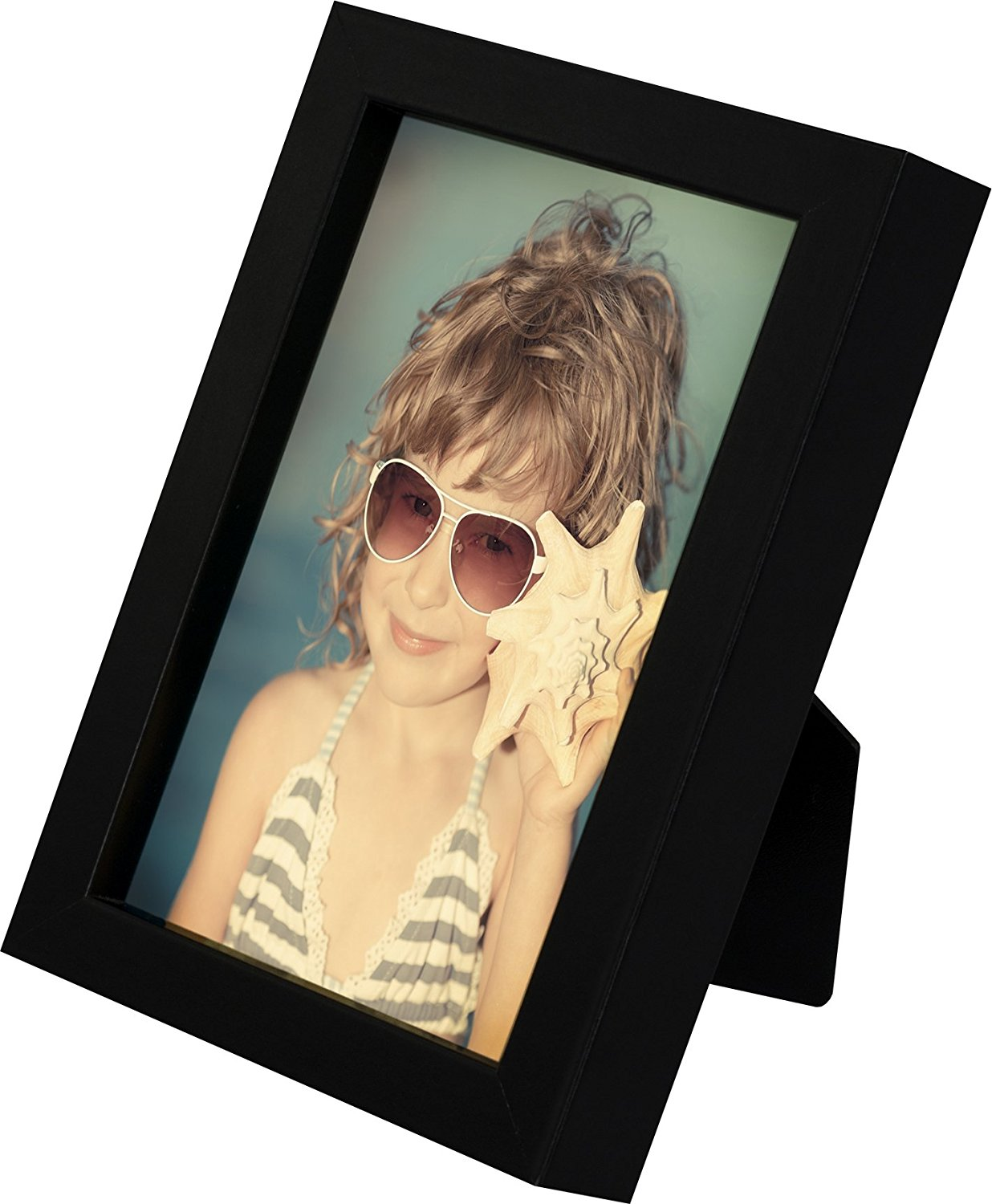 4 x 6-Inch Picture Photo Frame - 2 Pack, BLACK